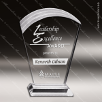 Acrylic Clear Circle Wave Top Trophy Award Corporate Acrylic Awards