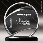 Acrylic Black Accented Bent Wire Circle Trophy Award Corporate Acrylic Awards