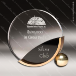 Acrylic Gold Accented Circle Stand Trophy Award Corporate Acrylic Awards