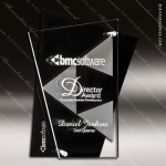Acrylic Black Accented Abstract Clear Trophy Award Corporate Acrylic Awards