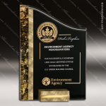 Acrylic Gold Accented Textured SunRay Trophy Award Corporate Acrylic Awards