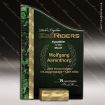 Acrylic Green Accented Textured SunRay Trophy Award Corporate Acrylic Awards