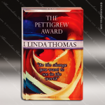Acrylic Full Color Accented Rectangle Trophy Award Corporate Acrylic Awards