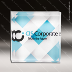 Acrylic Full Color Accented Square Paper Weight Trophy Award Corporate Acrylic Awards