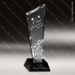 Crystal Black Accented Meteor Shower Trophy Award Corporate Crystal Awards