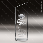 Crystal Sport Fanfare Golf Ball Trophy Award Corporate Crystal Awards