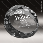 Crystal  Diamond Edge Circle Paperweight Trophy Award Corporate Crystal Awards