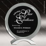 Crystal Black Accented Circle Meridian Trophy Award Corporate Crystal Awards