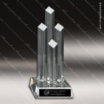 Crystal  Diamond 4 Post Tower Trophy Award Corporate Crystal Awards