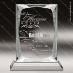 Crystal  Rectangle Beveled Edge Trophy Award Corporate Crystal Awards