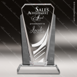 Crystal Silver Accented Bethesda Graphite Trophy Award Corporate Crystal Awards