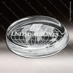 Crystal Clear Savannah Paperweight Trophy Award Corporate Trophy Awards