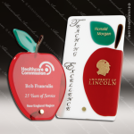 Artistic Red Reboso Apple Fusion Trophy Award Corporate Trophy Awards