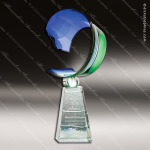 Artistic Blue & Green Raftsman Azure Meridian Trophy Award Corporate Trophy Awards