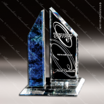 Artistic Blue Glass Rainsquall Sierra Trophy Award Corporate Trophy Awards