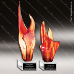 Artistic Red Amber Flame Rachels Blaze Trophy Award Corporate Trophy Awards