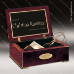 Desk Gift Rosewood Gold Accented Piano Finish Trinket Box Award Corporate Trophy Awards