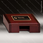 Engraved Rosewood Business Card Holder Box Case Desk Gift Corporate Trophy Awards