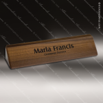 Desk Gift Engraved Walnut Name Plate Desk Wedge Corporate Trophy Awards