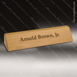 Desk Gift Engraved Wood Red Alder Name Plate Desk Wedge Corporate Trophy Awards