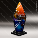 Vivo Pillar Artistic Orange Blue Art Glass Trophy Award Corporate Trophy Awards