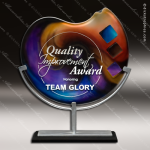 Varmont Delphi Artistic Orange Blue Art Glass Trophy Award Corporate Trophy Awards