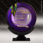 Vercelli Venus Artistic Purple Green Art Glass Trophy Award Corporate Trophy Awards