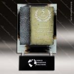 Venture Tablet Artistic Silver Gold Art Glass Trophy Award Corporate Trophy Awards