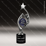 Cast Harmony Chrome Art Disc Star Marble Base Trophy Award Corporate Trophy Awards