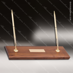 Desk Gift Walnut Pen Set Engravable Award Corporate Trophy Awards