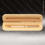 Engraved Wood Maple Pen Case Corporate Trophy Awards
