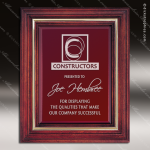 Engraved Cherry Hardwood Plaque Framed Glass Plate Corporate Trophy Awards