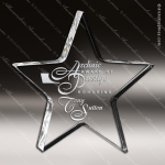 Acrylic  Clear Star Paperweight Award Corporate Trophy Awards