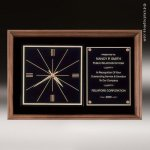 American Walnut Wall Clock Corporate Trophy Awards