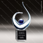 Artistic Glass Calabah Ovation Trophy Award Crystal Blanc Crystal Trophy Awards