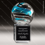 Artistic Glass Cajan Helix Trophy Award Crystal Blanc Crystal Trophy Awards