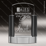 Crystal Black Accented Arch Neapolitan Trophy Award Crystal Blanc Crystal Trophy Awards