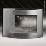 Crystal Silver Accented Rectangle Arch Aperture Trophy Award Crystal Blanc Crystal Trophy Awards