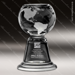 Crystal  Clear Cup Grande Planet Globe Trophy Award Crystal Blanc Crystal Trophy Awards