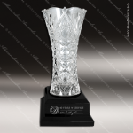 Crystal Cup Black Accented Royal Glass Vase Trophy Award Crystal Cup Trophy Awards