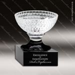 Crystal Cup Golf Bowl On Black Bowl Trophy Award Crystal Cup Trophy Awards