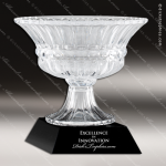 Crystal Cup Black Accented Vase Trophy Award Crystal Cup Trophy Awards