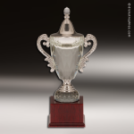 Cup Trophy Crystal Series Mahogany Base Trophy Award Crystal Cup Trophy Awards