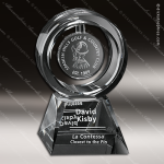 Crystal Clear Annular Trophy Award Crystal-D Series Crystal Trophy Awards