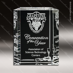 Crystal Clear Carlyle Trophy Award Crystal-D Series Crystal Trophy Awards