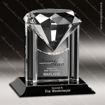 Crystal Black Accented Opulence Trophy Award Crystal-D Series Crystal Trophy Awards