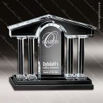 Crystal Black Accented Barona Trophy Award Crystal-D Series Crystal Trophy Awards