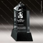 Crystal Black Accented Buckingham Trophy Award Crystal-D Series Crystal Trophy Awards