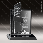 Crystal Black Accented Intrepid Trophy Award Crystal-D Series Crystal Trophy Awards