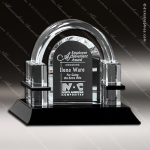 Crystal Black Accented Biltmore Trophy Award Crystal-D Series Crystal Trophy Awards